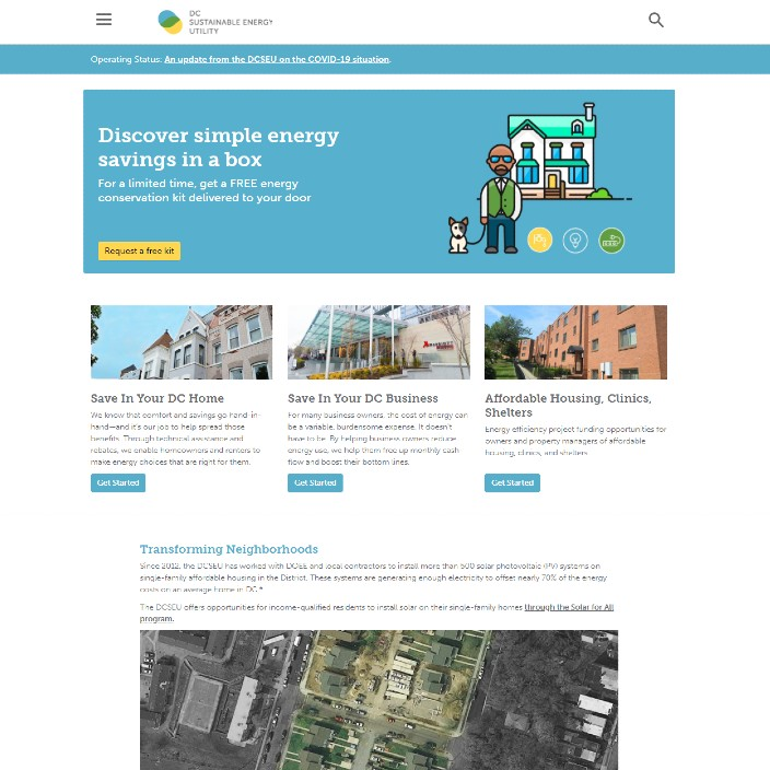 The DC Sustainable Energy Utility site