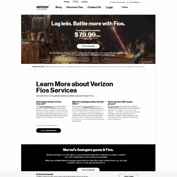 The Verizon site